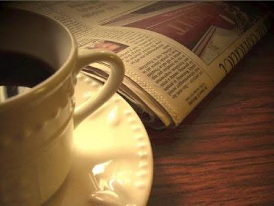 انتي عنوانه Sunday+paper+coffee+cup