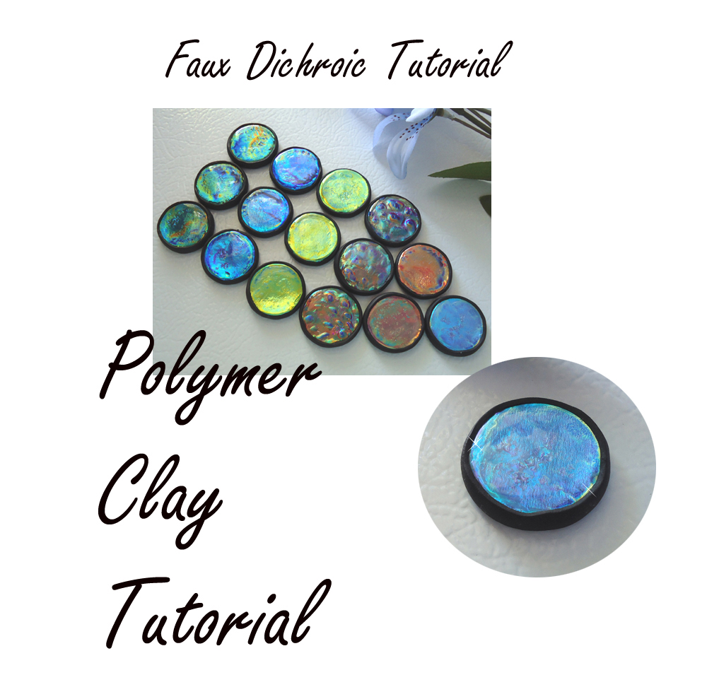 Tutorial Polymer Clay and Resin Faux Dichroic Glass