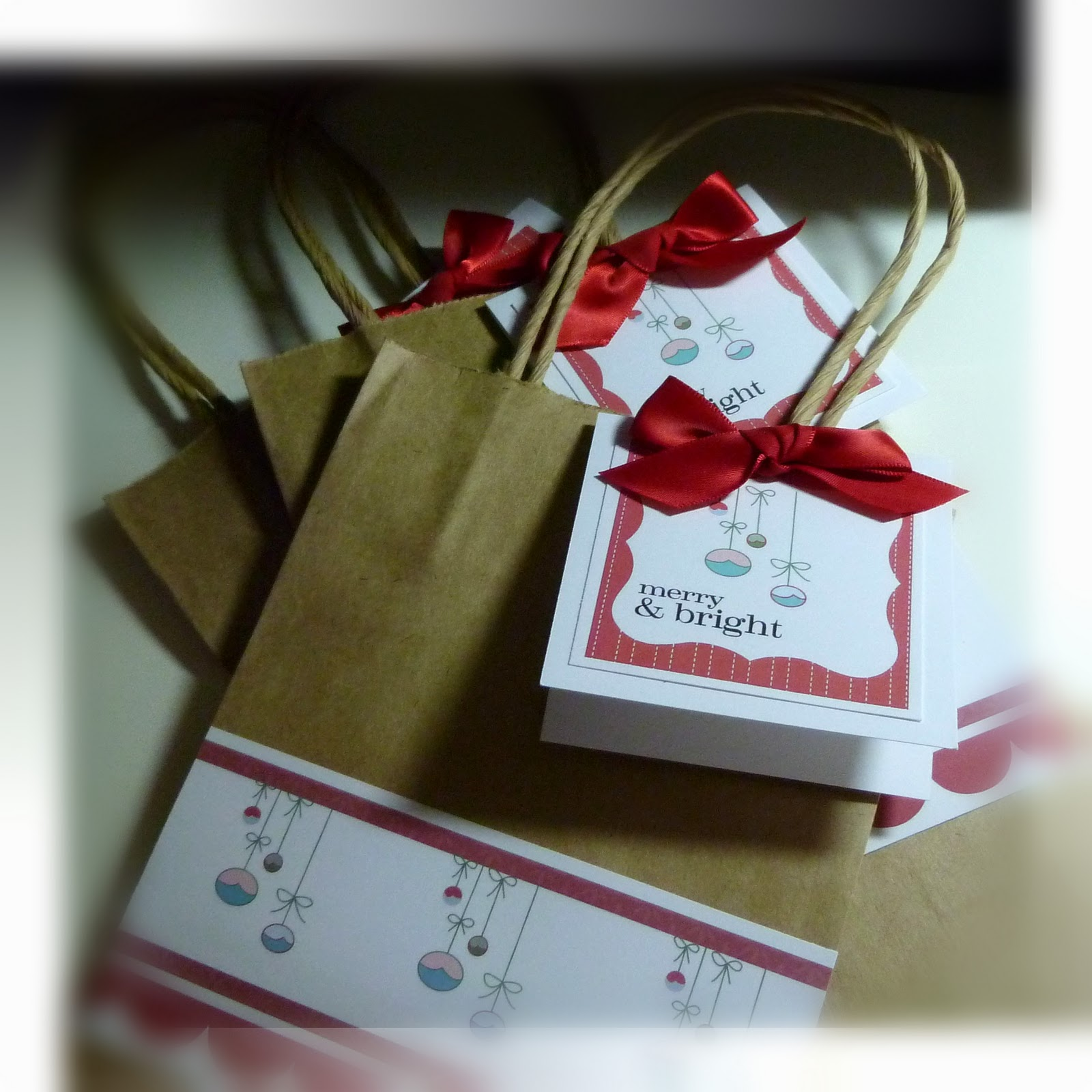 Me my stamps and i fa la christmas cute gift bags