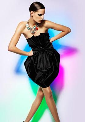 Bisuteria para vestido negro de fiesta