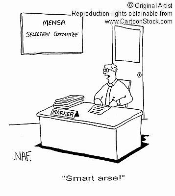 MENSA Test: Smart arse!