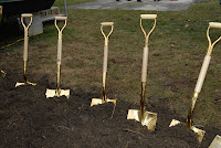 Magic golden groundbreaking shovels, Drexel University College of Medicine, Philadelphia, PA, December 18, 2008