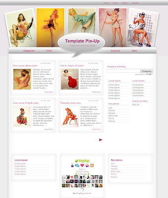 template pin-up blogger