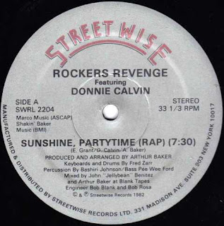 Rockers Revenge - Sunshine Partytime (Rap) 1982 12 Inch