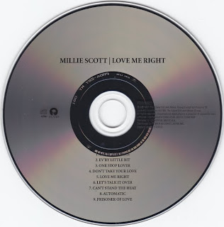 Millie Scott  -  Love Me Right 1987 Reissue 2008 CD
