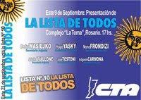 Jueves 9/9 en La Toma, 17 hs.