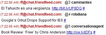IM con FriendFeed