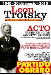 León Trotsky 70 aniversario de su asesinato.