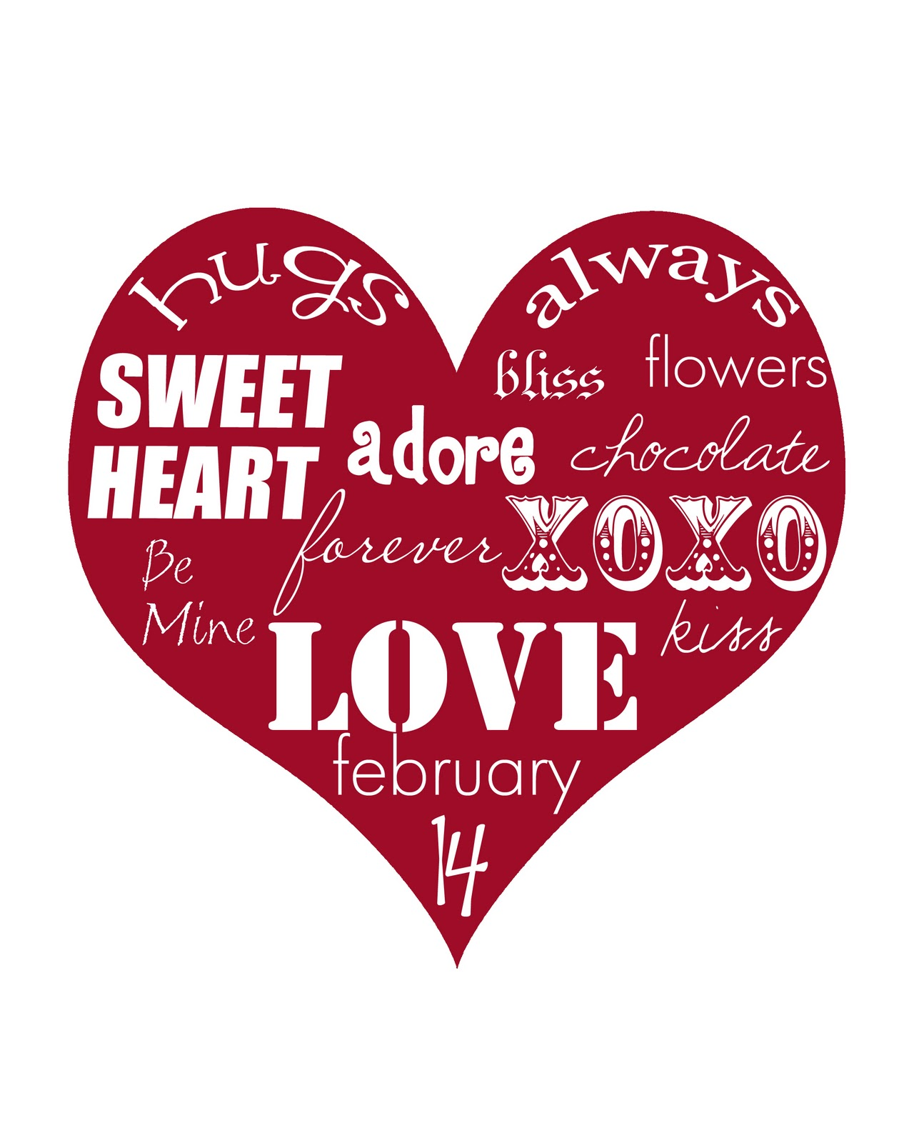 Canny image with printable valentine hearts free