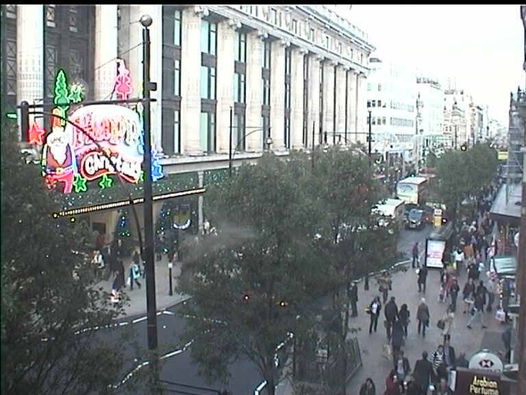 Oxford Street London Webcam 4/11/10 Christmas Lights
