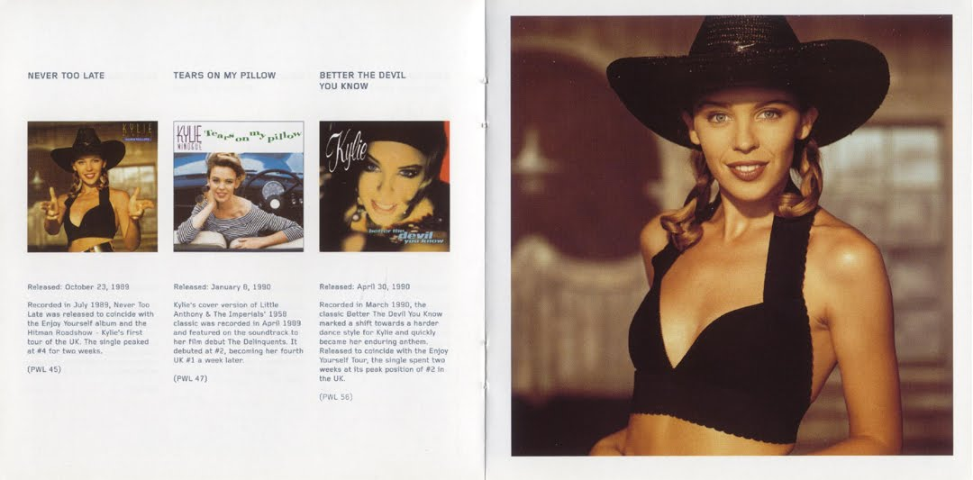 Encarte Kylie Minogue Greatest Hits 1987 1992 Reissue Edition