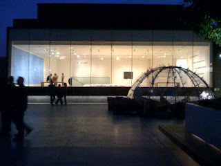 night view at SFMoMA roof garden