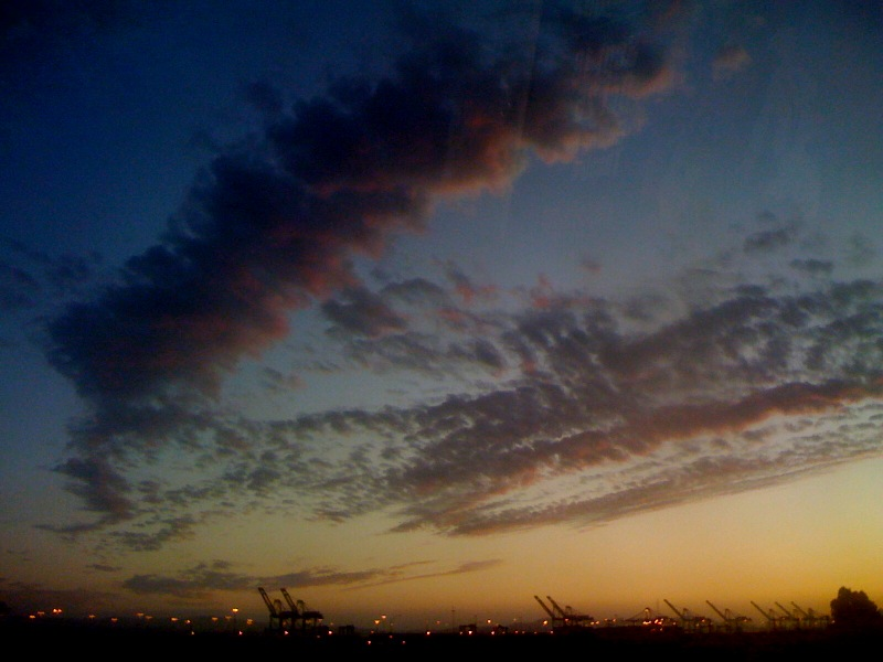 sunset sky from West Oakland by A.E. Graves, September 2009