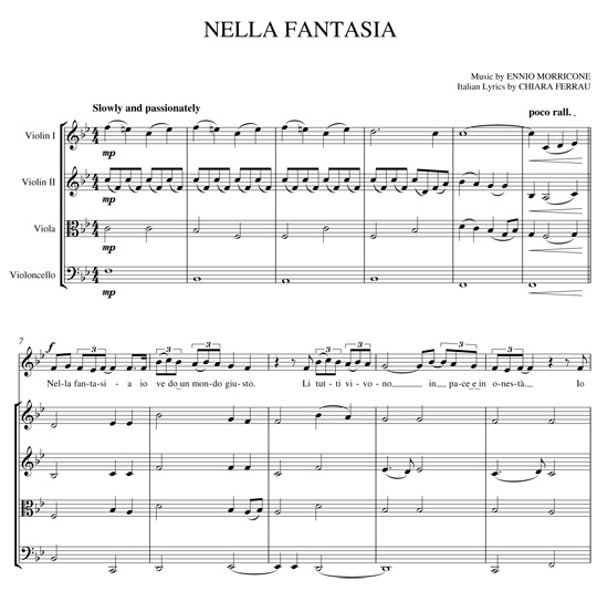 Gyros string quartet what s new blog gabriel s oboe and nella fantasia - Nella fantasia il divo ...