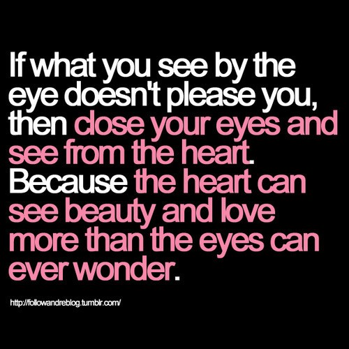 quotes on beauty. heart images with quotes.