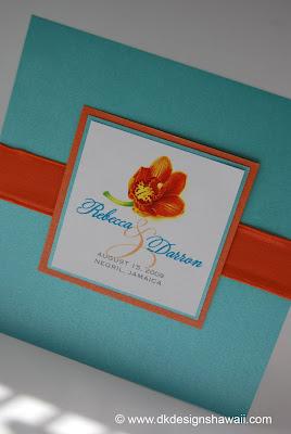 Orange And Teal Wedding Invitations