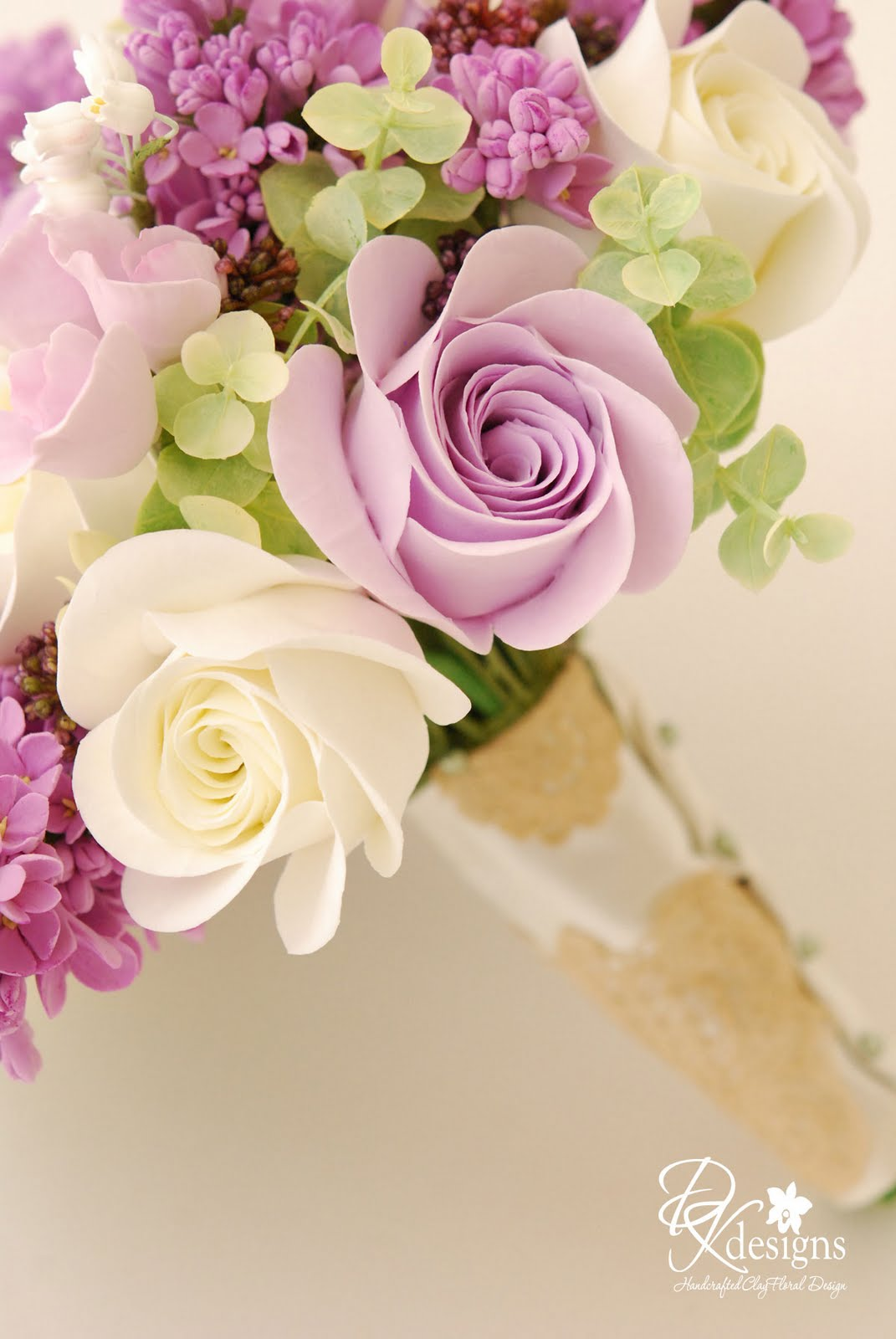 Amazing clay flower bouquet contemporary images for wedding gown dk designs my new favorite bouquet izmirmasajfo Images