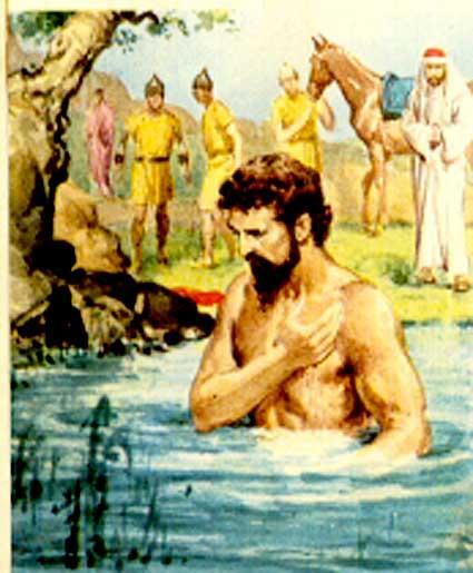 God Heals Naaman Coloring Page