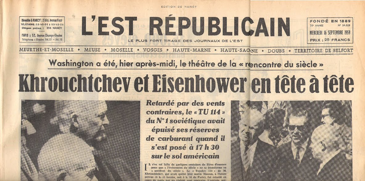 Rencontre khrouchtchev eisenhower
