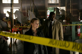 FRINGE: Olivia (Anna Torv, L) and Broyles (Lance Reddick, R) arrive at a crime scene in the FRINGE episode The Equation