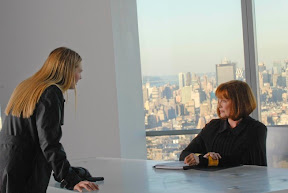 FRINGE: Olivia (Anna Torv, L) interrogates Nina Sharp (Blair Brown, R) at Massive Dynamic headquarters in the FRINGE episode The Dreamscape