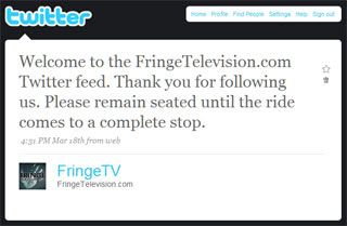 FringeTelevision is now on Twitter!