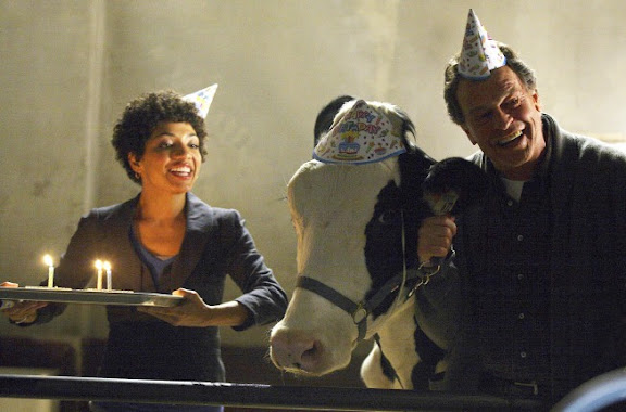 FRINGE: Walter (John Noble, R) and Astrid (Jasika Nicole, L) host a birthday party in the FRINGE Season Two premiere episode 'A New Day in the Old Town' airing Thursday, September 17 (9:00-10:00 PM ET/PT) on FOX. ©2009 Fox Broadcasting Co. CR: Liane Hentscher/FOX