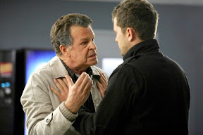 FRINGE: Peter (Joshua Jackson, R) tries to calm Walter (John Noble, L) after a terrible accident in the FRINGE Season Two premiere episode 'A New Day in the Old Town' airing Thursday, September 17 (9:00-10:00 PM ET/PT) on FOX. ©2009 Fox Broadcasting Co. CR: Liane Hentscher/FOX
