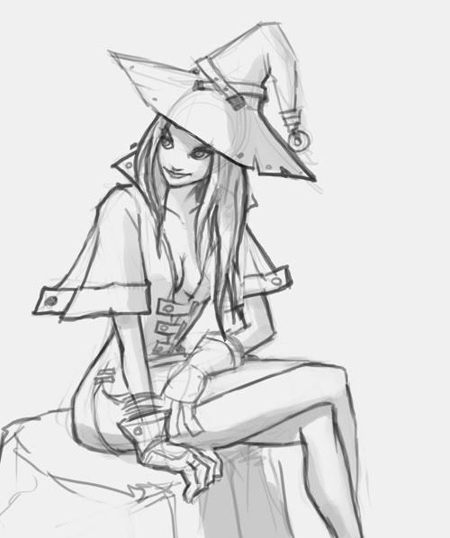 learn how to draw anime manga girl female a witch step