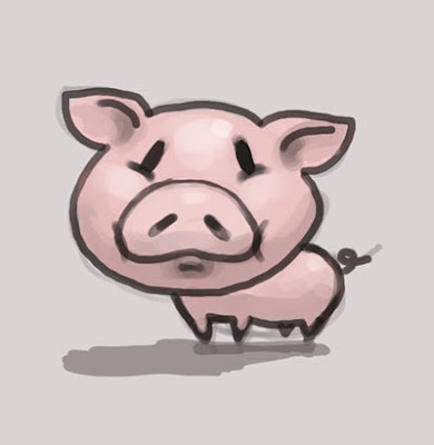 learn to draw cartoon pig little critter step by step using gimp 24 video tutorial lesson