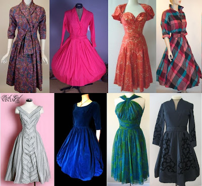 1950fashion Dress  on Fashion Me Fabulous  Vintage Picks  1950s Dresses