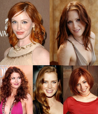 famous red haired actress
