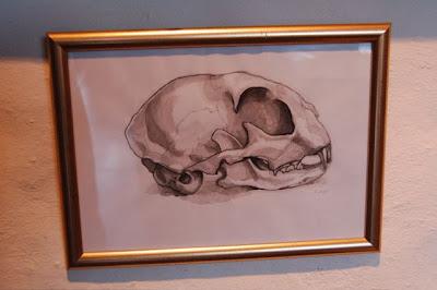 ophelia keys cat skull painting