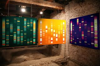 DNA som tavla på väggen - DNA-konst