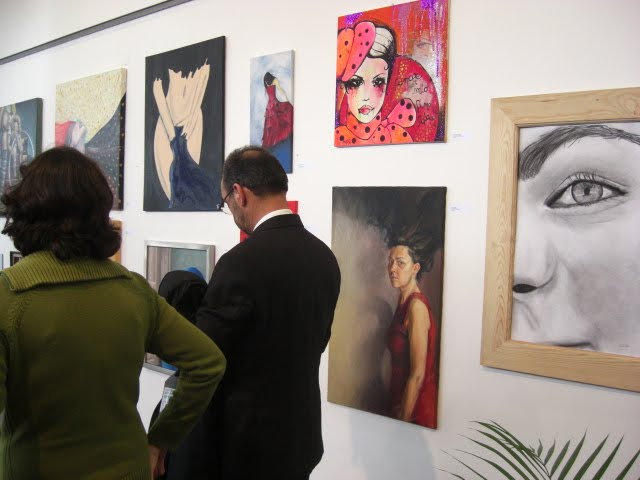 The Mayor of Vendas Novas visiting the exhibition