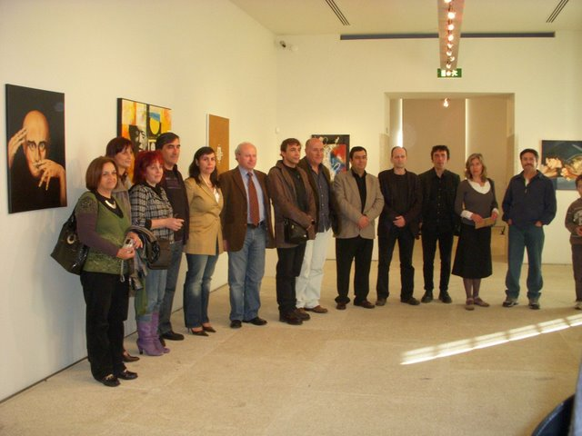 The artists presents in the opening with the Director of the Museum Dr. Agostinho Ribeiro