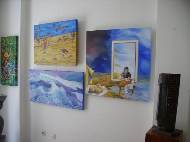 The works of Queimadela, Carlos Godinho, Regina Affonso and Isabel Alfarrobinha
