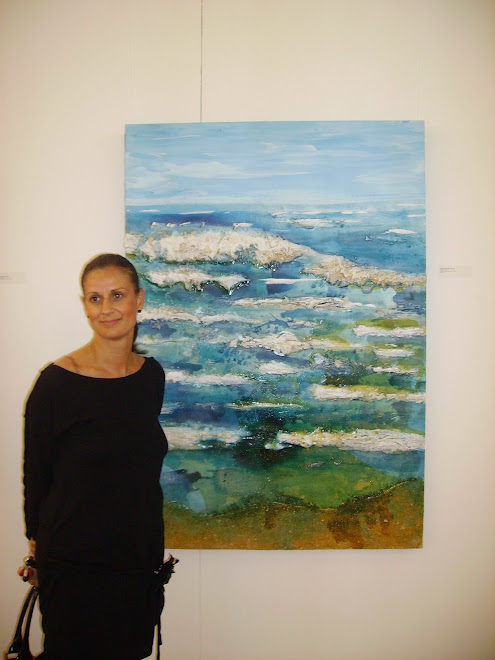 Carla Taveira with the work 'Half Moon Bay'