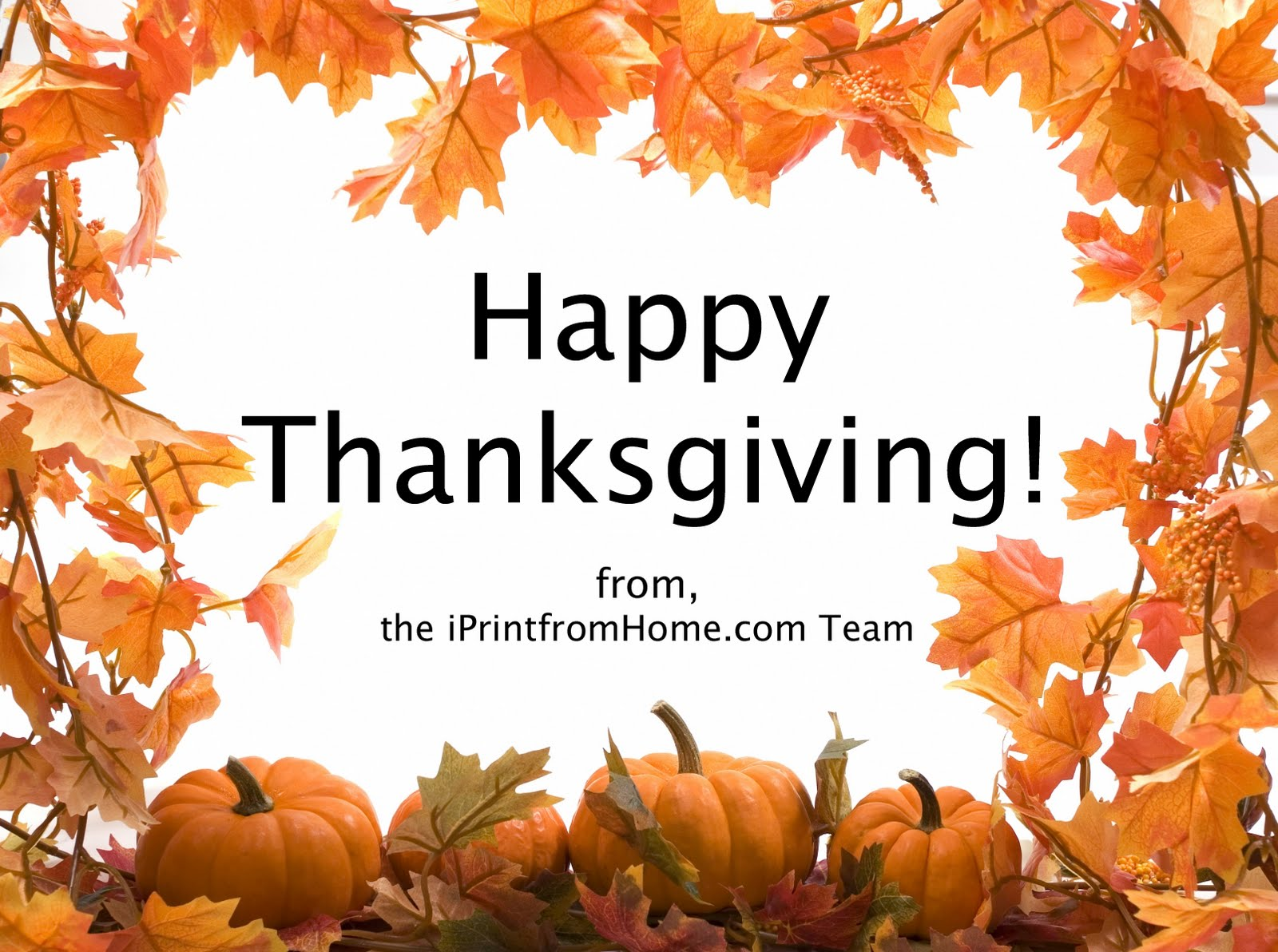 Happy Thanksgiving! : iPrintfromHome.com