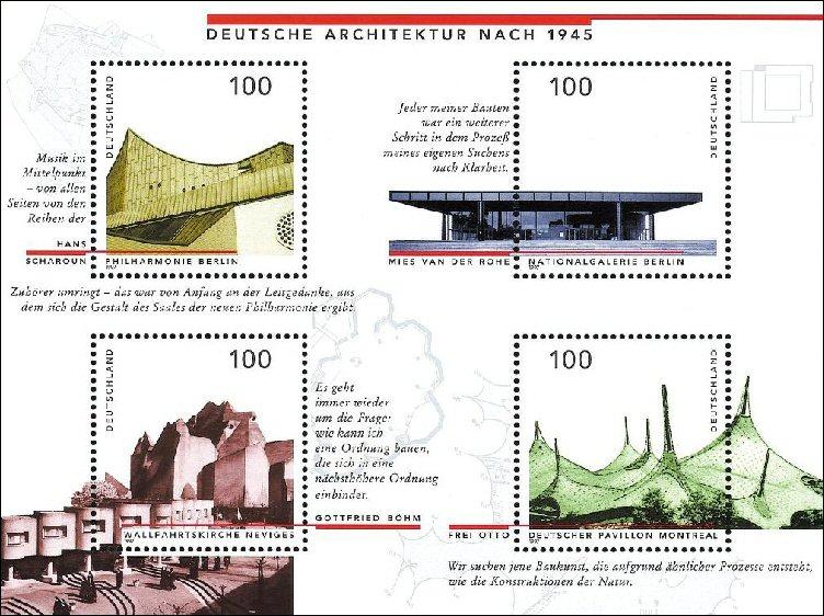 Arquitectura y Estampillas postales (Timbres o Sellos de correos)