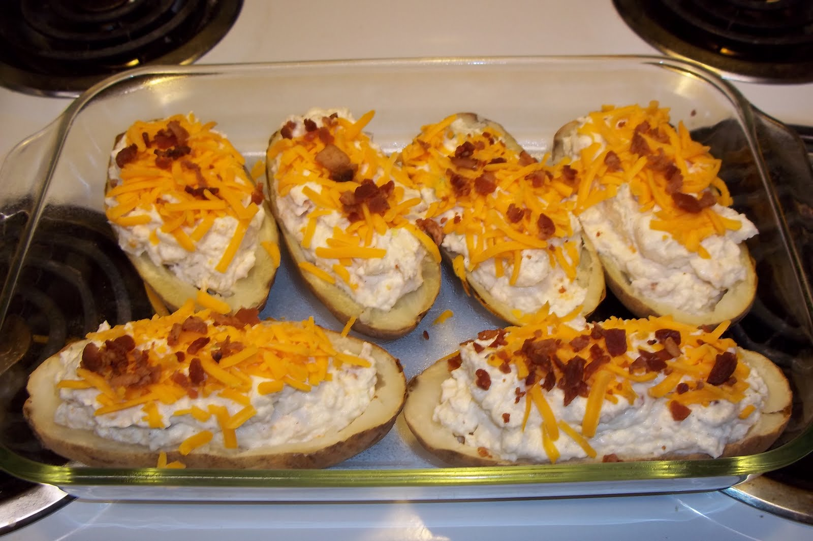 how to cook a twice baked potato in the oven