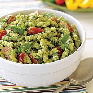 Pesto Pasta Salad (Italian Recipe)