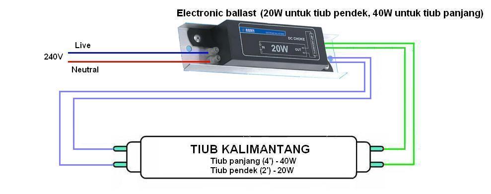 litar+kalimantang+dengan+electronic+ballast1 lampu kalimantang on radio wiring diagram