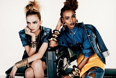 >Liya Kebede & Lily Donaldson pour V Magazine