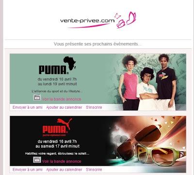 >Ventes Privées Puma à ne pas manquer!