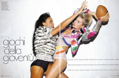 >Selita Ebanks pour Elle Italy