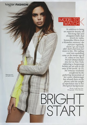 >Samantha Harris en couv' de Vogue Australia