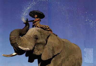 """""""Wild Things"""", Naomi Campbell par Jean Paul Goude pour Harpers Bazaar Septembre 09"""