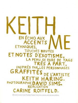 Keith Me par David Sims pour Vogue Paris
