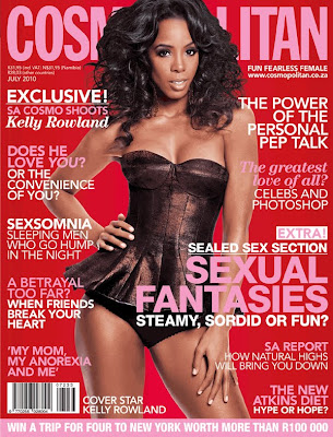 >Kelly Rowland en couv' de Cosmo South Africa